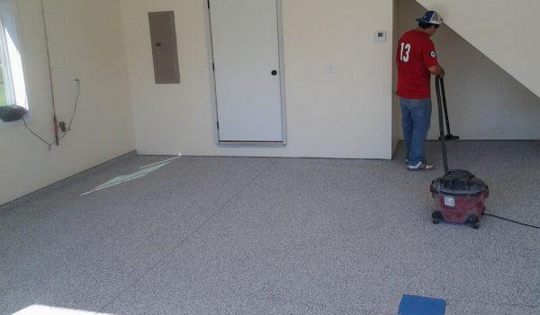 Grey Epoxy Flooring in Garage